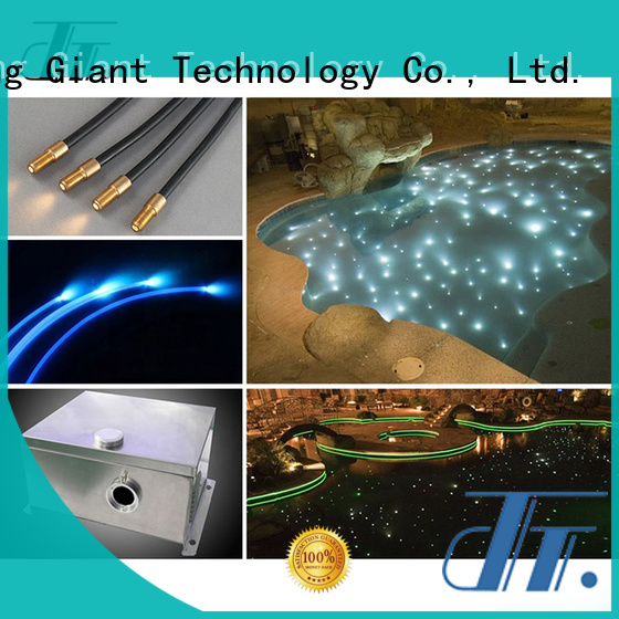 Njgiant promotional side glow optic fiber company for outdoor use