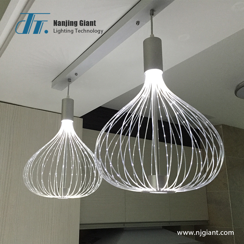 Fiber optic restaurant lamp fiber optic indoor lighting