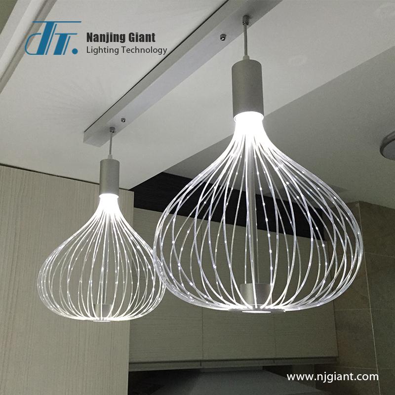 Fiber optic restaurant lamp fiber optic indoor lighting