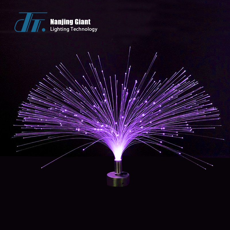 Fiber optic table lamp  flower fiber optic light