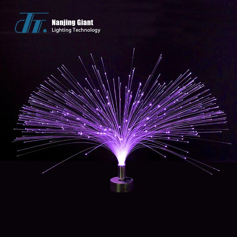 Fiber optic table lamp  flower fiber optic light