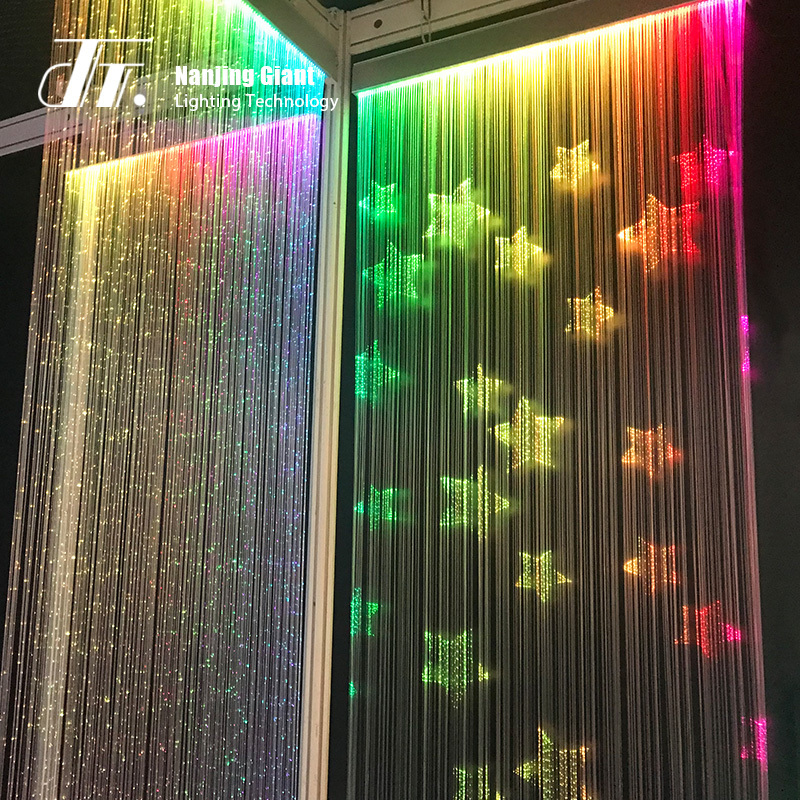 Customized fiber optic curtain light