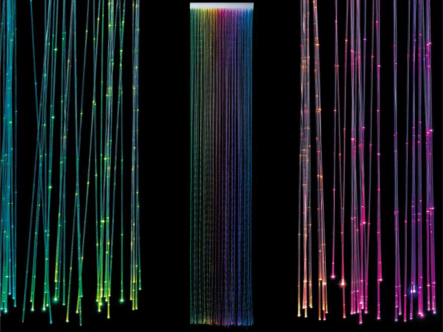 Optical fiber curtain light