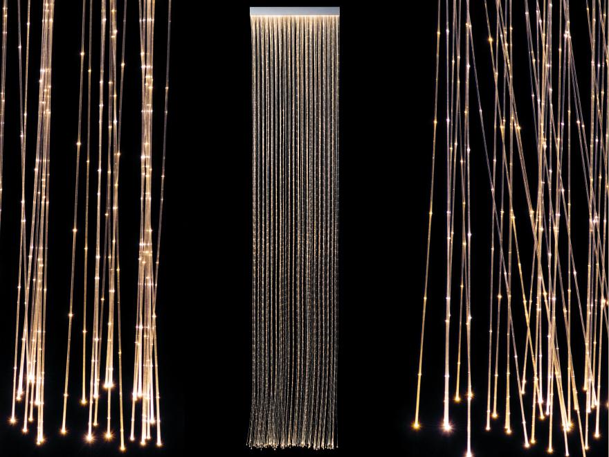 Fiber optic light curtain