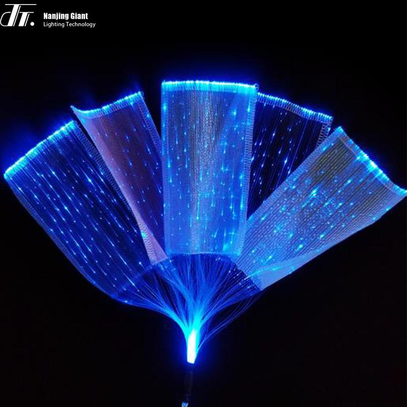 Plastic Optical Fiber Luminous Weaving Fabric Optic Products