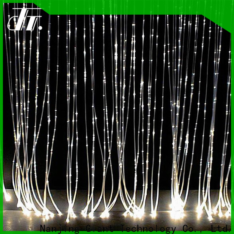 Njgiant side glow optic fiber custom bulk buy