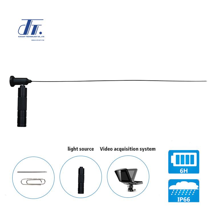 Portable optical fiber endoscope